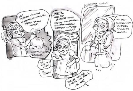 vaatteidenvaihtoa